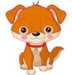 Farm animals. Illustration of cute Dog