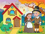 Thanksgiving pilgrim theme 5 - eps10 vector illustration.