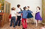 Children dancing at birthday party