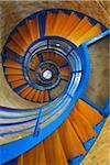 Spiral Staircase in Lighthouse, Fluegger Watt, Baltic Island of Fehmarn, Schleswig-Holstein, Germany
