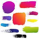 Color Blots Set, Vector Illustration