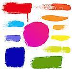 Colorful Blots Set, Vector Illustration