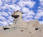 "So called ""Sphinx"" rock fomation, Moon valley (Valle de la Luna), Ischigualasto national park, Argentina."