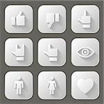 Social icons set. Vector illustration.