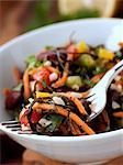 A bowl of vegetarian seaweed salad