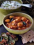 Chicken chettinad and white rice