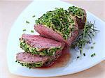 Lamb rump with a herb crust