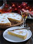 Traditional Spanish Santiago almond tart