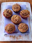 Cranberry walnut crumb cupcakes