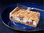 Peanut butter chocolate cheesecake slice