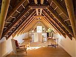 Sunny luxury attic