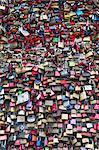Love padlocks on the Hohenzollern Bridge, Cologne, North Rhine Westphalia, Germany, Europe