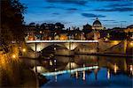 Ponte Vittorio Emanuelle II and the dome of St. Peter's Basilica, Rome, Lazio, Italy, Europe