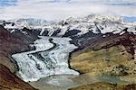 Retreating glacier, Aerial view, Wrangell-St. Elias National Park, Alaska