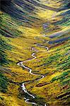 Tundra valley (aerial), Wrangell-St. Elias National Park, Alaska