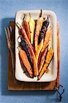 Roasted carrots with honey ginger glaze