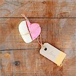A heart shape made of marshmallow