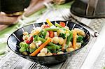 vegetables, chickpeas, green beans