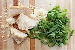 Crumbed Parmesan and Arugula