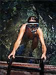 Diving woman, Thailand