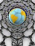 Nanotechnology, conceptual computer artwork.