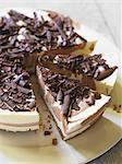 Cheesecake with chocolate