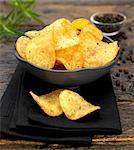 handmade beef and peppercorn potato crisps