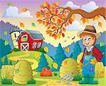 Autumn farm theme 8 - eps10 vector illustration.