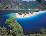 View of the Blue Lagoon, Oludeniz, Anatolia, Turkey