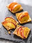 Nectarine-ginger tartlet