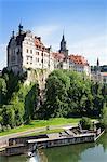 Sigmaringen Castle, Danube River, Upper Danube Nature Park, Swabian Alb, Baden Wurttemberg, Germany, Europe