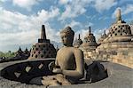 Borobudur Buddhist Temple, UNESCO World Heritage Site, Java, Indonesia, Southeast Asia, Asia
