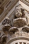 Decoration on Basilica di Santa Croce in the baroque city of Lecce, Puglia, Italy, Europe