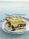 Green pasta vegetable lasagnes