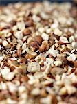 Coarsly crushed hazelnuts