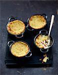 Crab and potato mini casseroles