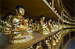 Buddha collection under the Golden Maitreya Statue, Beopjusa Temple Complex, South Korea, Asia