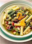 Pistou soup with aged Mimolette