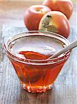 Jar of apple jelly