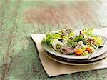Purslane,duck and blue cheese salad