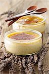Lavander and vanilla-flavored Crème brûlée