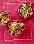 Breton artichoke,potato and shrimp salad
