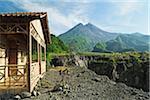 Cabin at Mount Merapi, Java, Indonesia