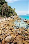 Rocky Shore near Pasir Panjang (Long Beach), Perhentian Kecil, Perhentian Islands, Malaysia