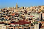 Galata Tower, Beyoglu District, Istanbul, Turkey, Europe