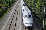High-speed train, Pas-de-Calais, France, Europe