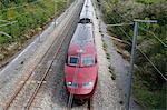 High-speed Thalys train, Pas-de-Calais, France, Europe