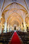 Interior of the Cathedral Primada de America, Old Town, UNESCO World Heritage Site, Santo Domingo, Dominican Republic, West Indies, Caribbean, Central America