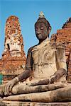 Buddha statue, Wat Mahatat, Ayutthaya Historical Park, UNESCO World Heritage Site, Ayutthaya, Thailand, Southeast Asia, Asia