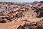 Overview of Moon Valley, Atacama Desert, San Pedro, Chile, South America